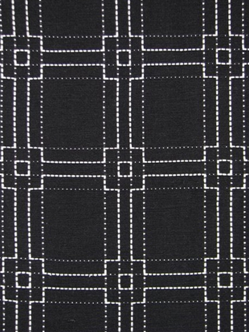 Square Stitch White on Black