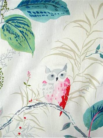 Owlish Multi Kate Spade Fabric Decorator Fabric Rooms