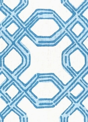 Well Connected Tide Blue Decorator Fabric Rooms