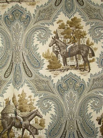 Woodgate Putty Equestrian Fabric