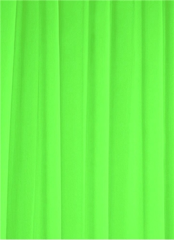 Neon Green Chiffon Fabric