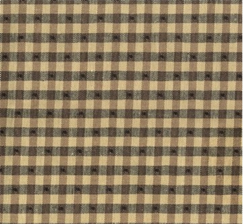 Linley Gingham 693 Black Tan Covington Fabric