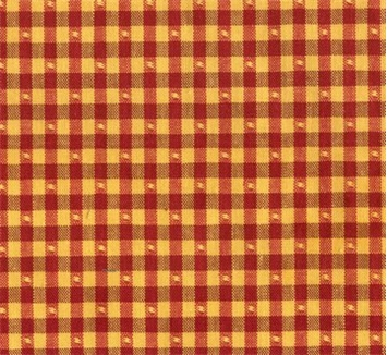 Linley Gingham 83 Gold/Red