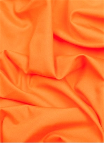 Neon Orange China Silk Lining Fabric