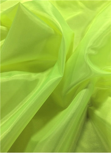 Neon Yellow China Silk Lining Fabric