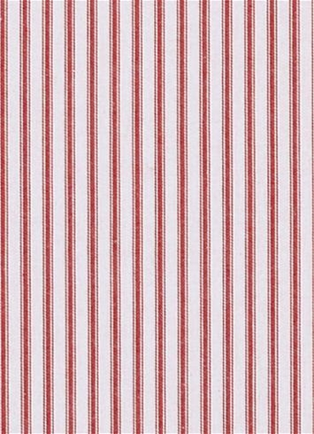 New Woven Ticking 30 Red