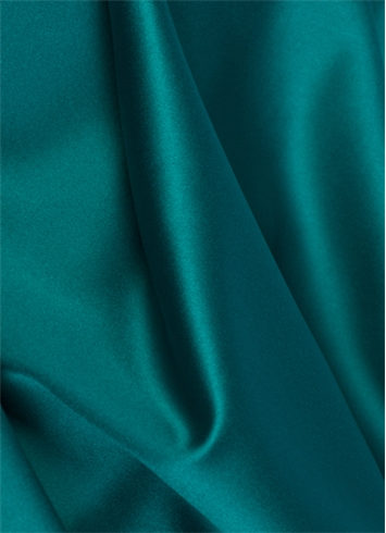 Crepe Teal Duchess Satin Fabric
