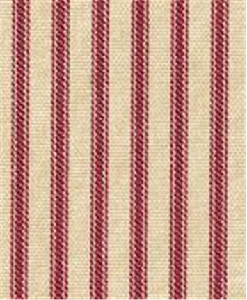 NY Ticking Stripe Crimson