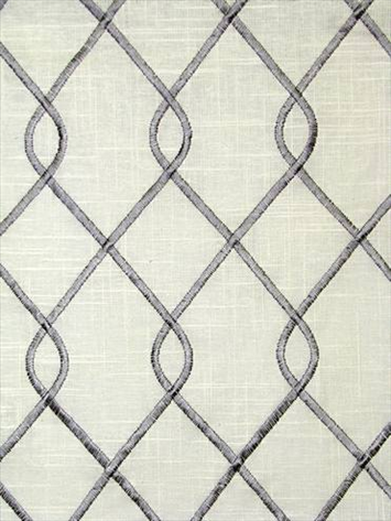 Rico Grey Embroidered Fabric