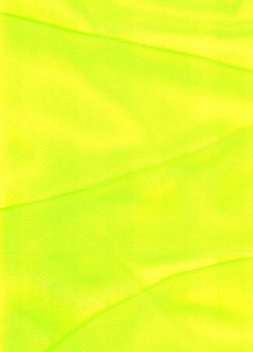 Neon Yellow Sparkle Organza Fabric