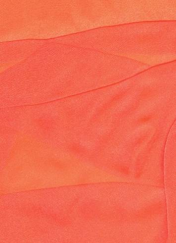Neon Red Sparkle Organza Fabric