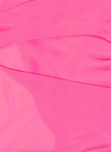 Neon Pink Sparkle Organza Fabric
