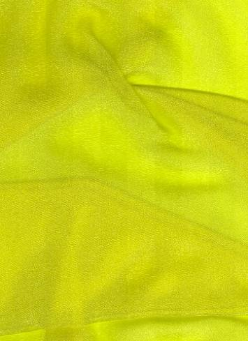 Lime Sparkle Organza Fabric