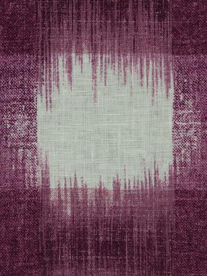 PLAID IKAT EGGPLANT
