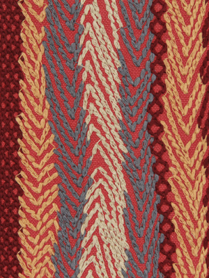 ZIGZAG ROWS RED EARTH