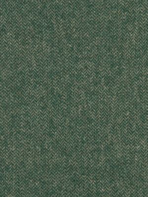 WOOL CHEVRON BILLIARD GREEN