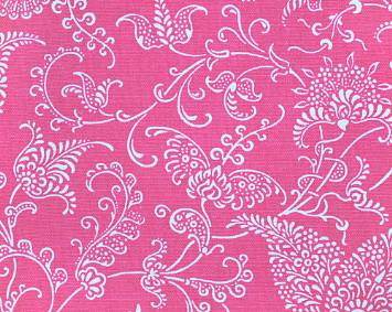 Small Paisley Candy Pink/White