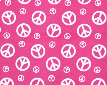 Peace Candy Pink/White
