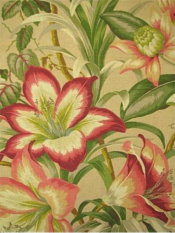 Botanical Glow Bonfire Decorator Fabric Rooms