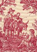 Country Life Garnet Toile Fabric