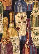 Wine Bottle Fabric R3411 Harvest