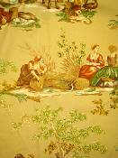 Serafin Wheat Toile Fabric