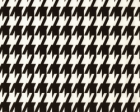 Large Houndstooth Black/White