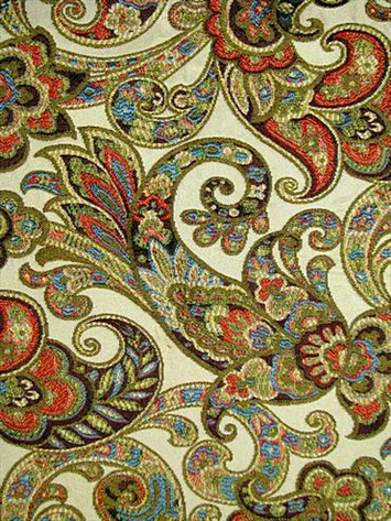 Grand Paisley Jewel Tapestry Fabric
