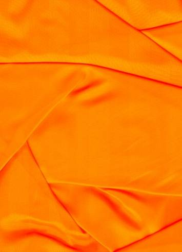 Neon Orange Sparkle Organza Fabric Bridal Fabric