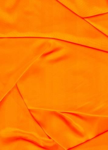 Neon Orange Sparkle Organza Fabric Bridal Fabric