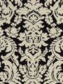 BHUJ DAMASK BLACK WHITE