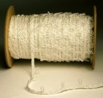 Ivory Elastic Button Loop Tape