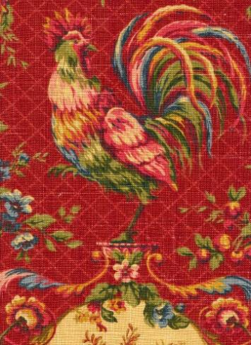 Saison De Printemp Bordeaux Vintage Waverly Fabric