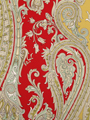 FUN PAISLEY LACQUER RED