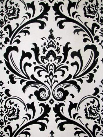 Vector of 'Abstract damask background, black and white fashion