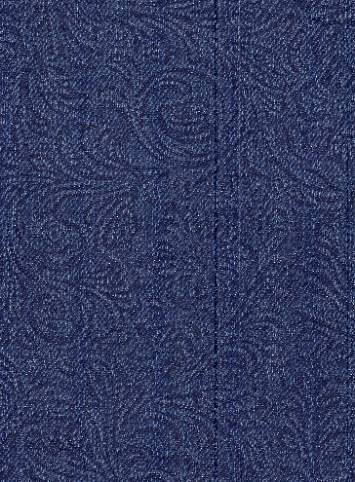 Embossed Paisley Denim Indigo