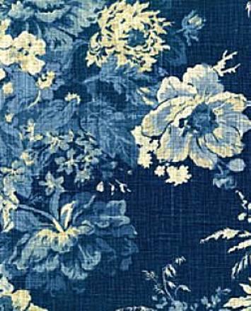 Ballad Bouquet Indigo Waverly Fabric