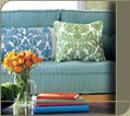 Waverly prints in popular home decorator patterns.